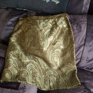 Gold paisley skirt